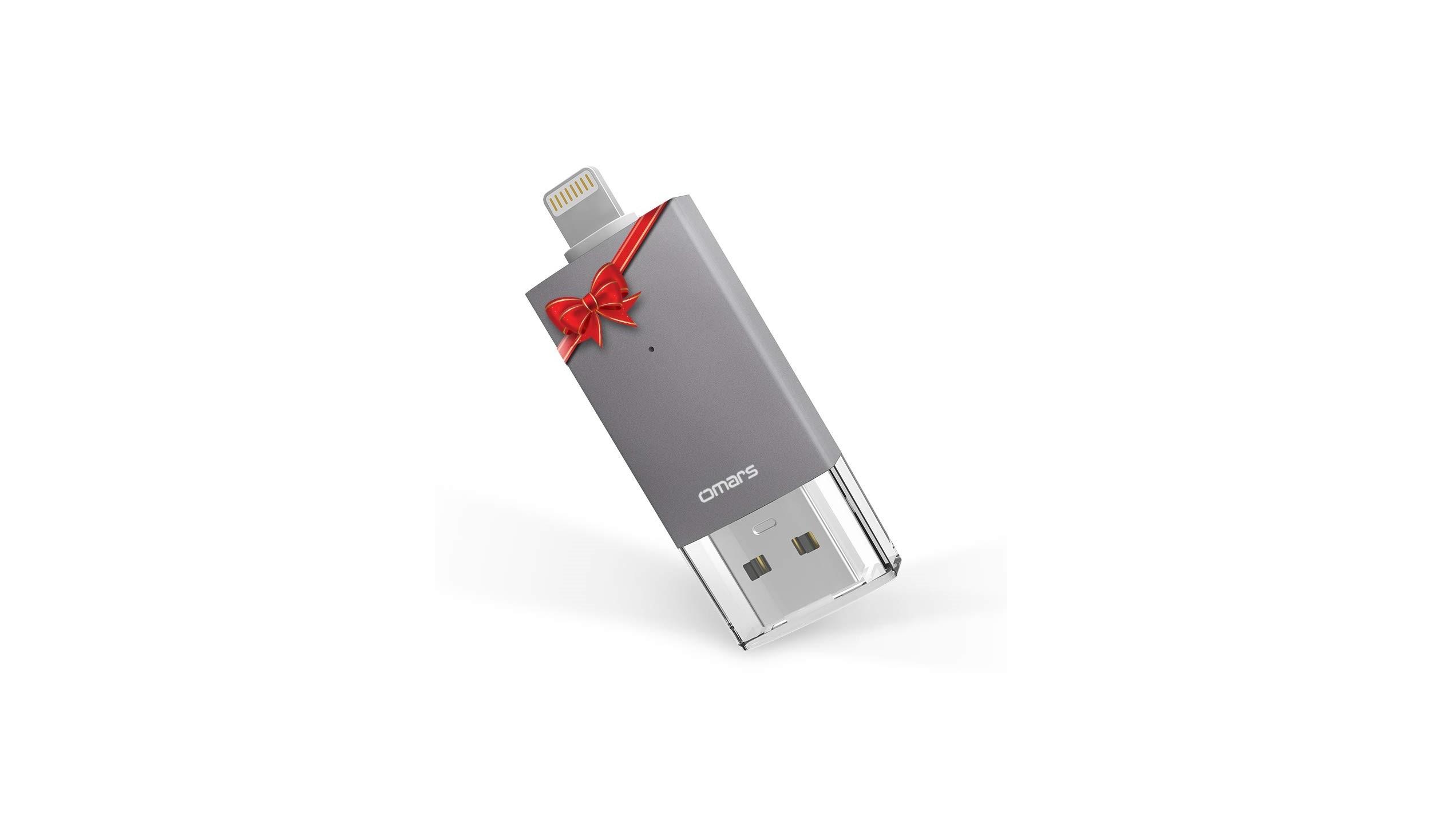 Omars Cl/é USB 128Go pour iPhone iPad USB3.0 et Lightning USB Certifi/é Apple MFi Dual Port Flash Drive pour lExtension du Stockage et Transfert de Donn/ées